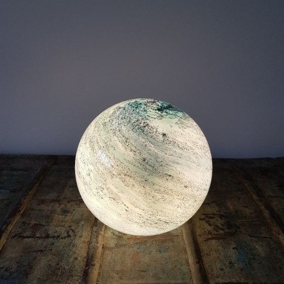 Copper Cloud - Hand Blown Small Sphere Light
